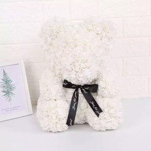Ursulet Floral Teddy Bear din Trandafiri de spuma 40 cm, in cutie cadou