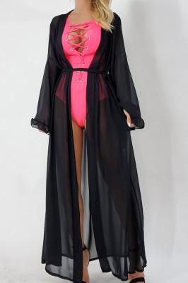 Cardigan de plaja Distinct negru