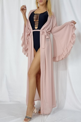 Cardigan de plaja Distinct roze