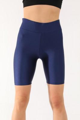 Colanti scurti fitness Lety cu aspect lucios bleumarine