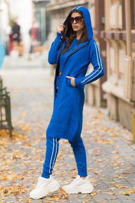 Compleu Malibu 3 piese din tricot, albastru