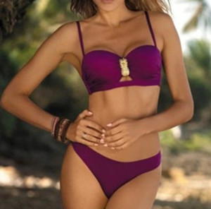 Costum de baie Forever You Burgundy