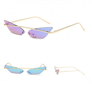 Ochelari de soare, femei, model Cat Eye lyla, rama aurie