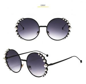Ochelari de soare rotunzi Rebecca Black cu perle