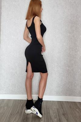 Rochie Ava midi cu crapatura pe spate
