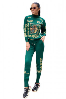 Trening tricotat cu model deosebit Saint Louis, verde