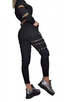 Compleu sport Charming pantaloni si hanorac