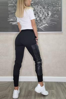 Compleu sport Ellen pantaloni si tricou alb