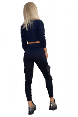 Compleu sport Glamy pantaloni si hanorac