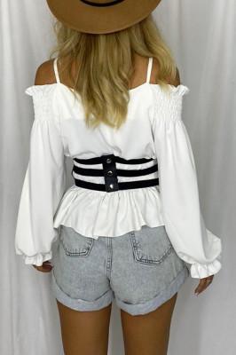 Curea lata tip corset Jady negru