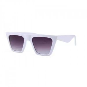 Ochelari de soare Viviane albi patrati