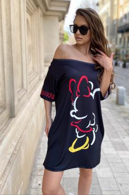 Rochie tricou lung Minnie neagra