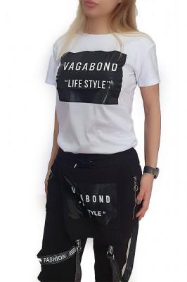 Tricou de dama alb din bumbac Life Style
