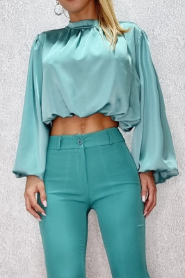 Camasa scurta Sublime Chic turquoise