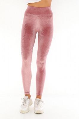 Colanti modelatori Livia din catifea roz pudra