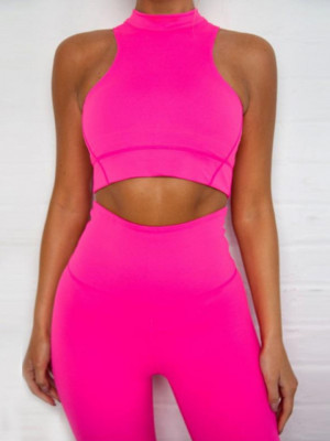 Compleu Fitness Vanesa din doua piese roz