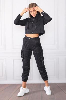 Compleu sport Intense Black pantaloni si bluza
