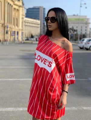 Rochie casuala de zi Loves rosie cu imprimeu trendy