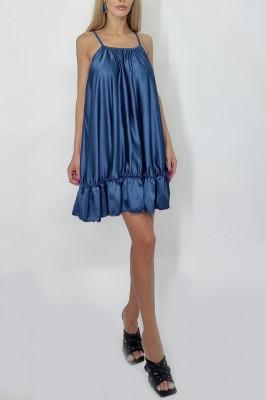 Rochie supradimensionata Karina albastra