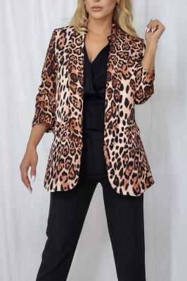 Sacou Annabel ghepard de lungime medie