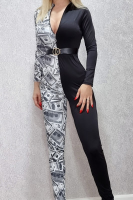 Salopeta dama din lycra in 2 culori Money