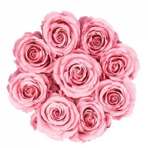 Aranjament floral cu 15 trandafiri parfumati de sapun, in cutie neagra