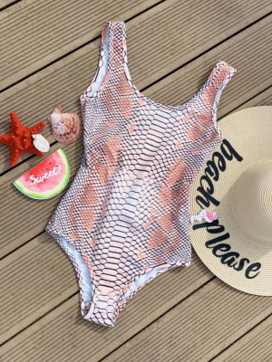 Body - costum de baie LYS Pink Snake