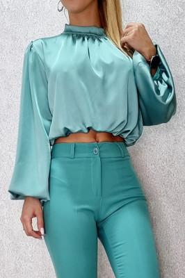 Camasa scurta Sublime Chic turquoise