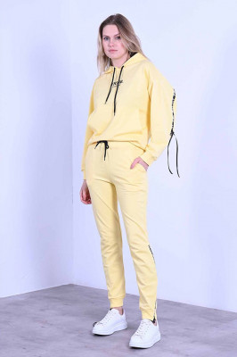 Compleu doua piese pantaloni si hanorac, Casilda galben