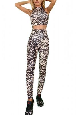 Compleu Fitness Vanesa din doua piese cheetah