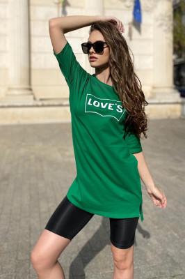 Compleu Loves tricou si colanti licra scurti