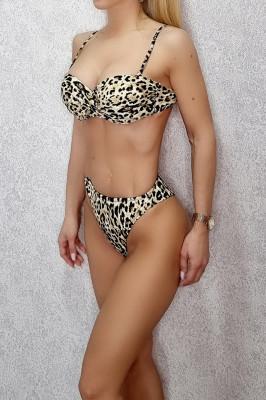 Costum de baie doua piese Iris Leopard