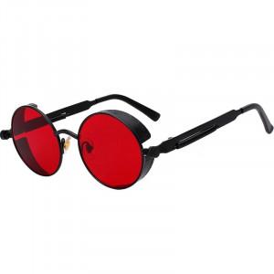 Ochelari de soare Vanity Red Black model rotund unisex