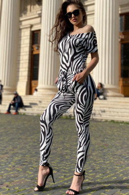 Salopeta lycra Josie, imprimeu zebra