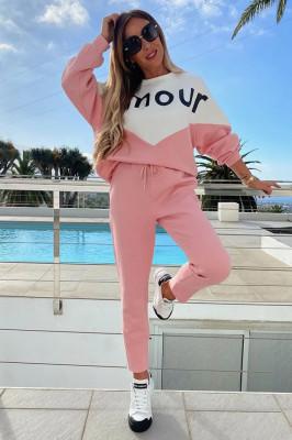 Trening de bumbac Amour roz