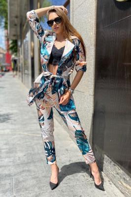 Costum dama Lorena Amazon pantaloni si sacou