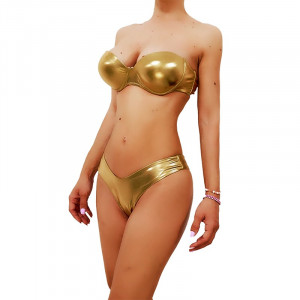 Costum de baie doua piese Mistery Auriu