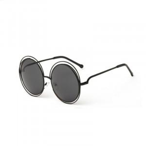 Ochelari de soare rotunzi Beea Black