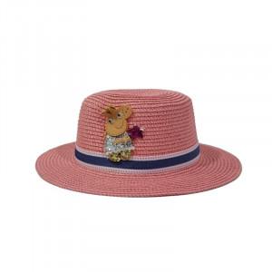 Palarie Peppa Pig din paie de hartie pentru fete