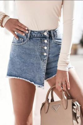 Pantaloi scurti din denim Mery tip fusta