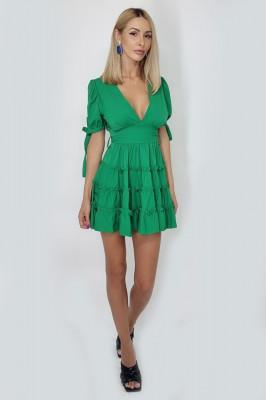Rochie cu volane MySecret verde