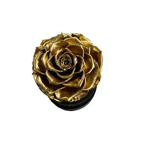 Trandafir Criogenat XXL in cutie neagra de satin