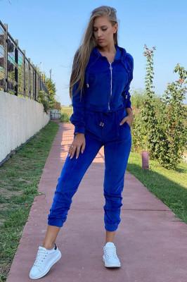 Trening de catifea Rosa, albastru