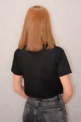 Tricou dama casual negru cu imprimeu women's accessories