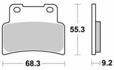 SBS - PLACUTE RACING OFFROAD SINTER - 844RS