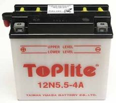 TOPLITE YUASA - 12N5,5-4A (CU INTR., NU INCL. ACID)