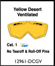 ARIETE - LENTILE - DOUBLE CYLINDRICAL YELLOW VENTILATED
