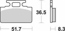 SBS - PLACUTE FRANA SCOOTER CERAMIC - 110HF = 618HF