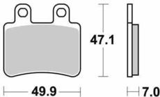 SBS - PLACUTE FRANA SCOOTER CERAMIC - 167HF = 773HF