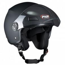 PILOT - Casca Open-face FAZER - negru mat, XS
